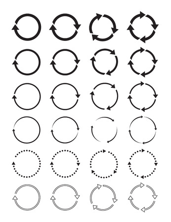 Set of black circle arrows.
