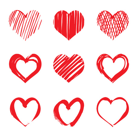 valentin day: Set Icon of Heart. Graphic elements. Set of Heart. Graphic elements and Icons.