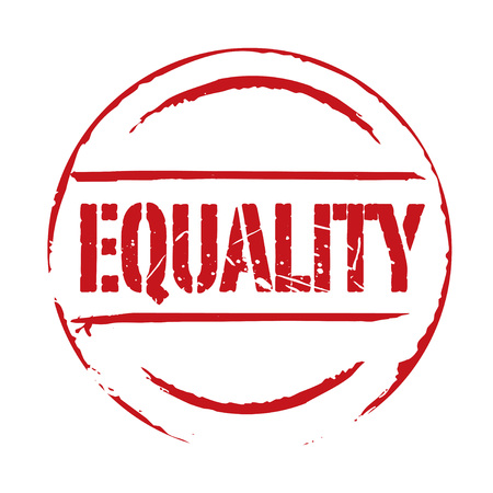 equality: Red grunge stamp EQUALITY Illustration