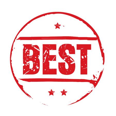 at best: Red grunge stamp BEST