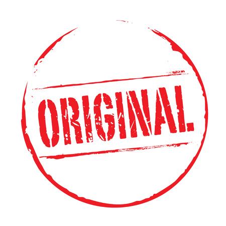 red grunge: Red grunge stamp ORIGINAL