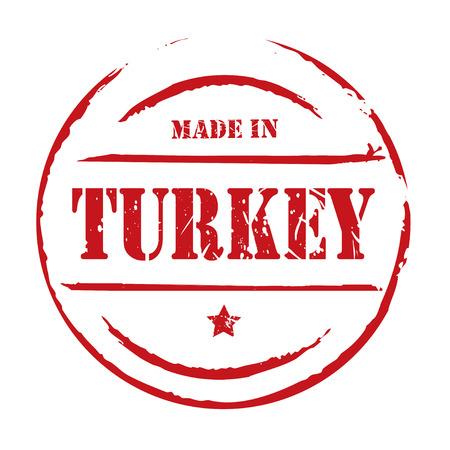 red grunge: Red grunge stamp MADE IN TURKEY