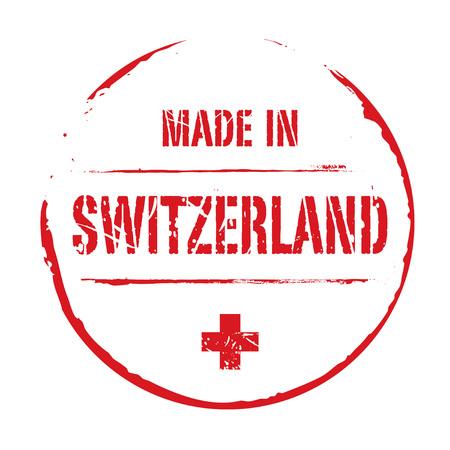 red grunge: Red grunge stamp MADE IN SWITZERLAND