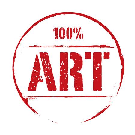 red grunge: Red grunge stamp ART.