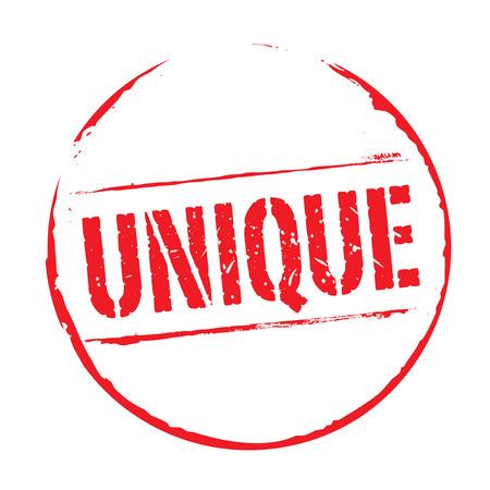 red grunge: Red grunge stamp UNIQUE Illustration