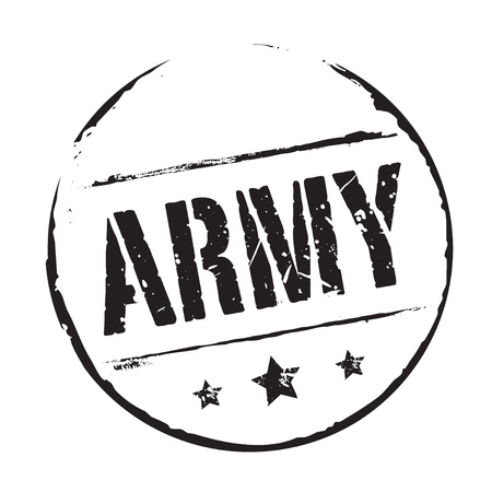 army: Black grunge stamp and text ARMY