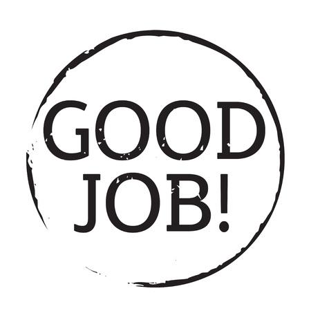 good job: Black grunge stamp and text GOOD JOB Illustration