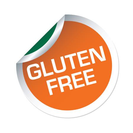 gluten free: Orange vector sticker GLUTEN FREE
