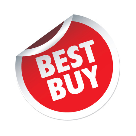 best buy: Red vector sticker BEST BUY Illustration