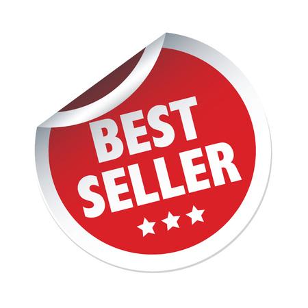 seller: Red vector sticker BEST SELLER