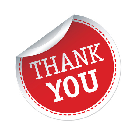 you are special: Red vector sticker THANK YOU