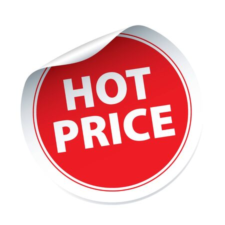 hot price: Red vector sticker HOT PRICE
