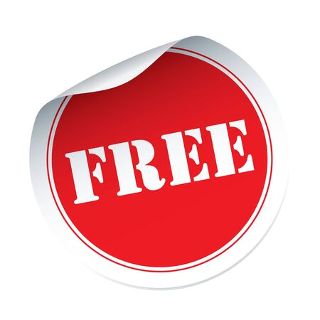 set free: Red vector sticker FREE