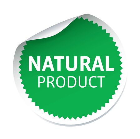 natural product: Green vector sticker NATURAL PRODUCT