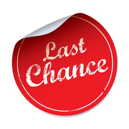 Red vector sticker LAST CHANCE Vettoriali