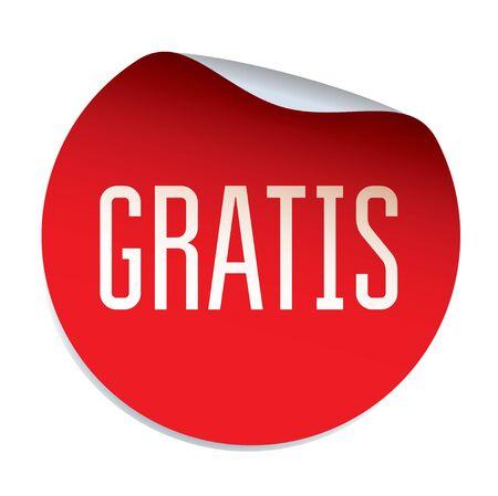 gratis: Red vector sticker FREE