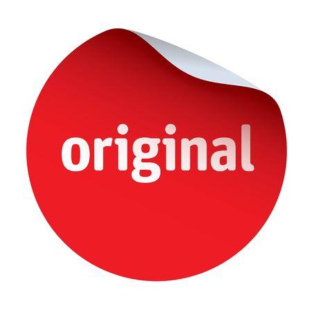 original: Red vector sticker original Illustration
