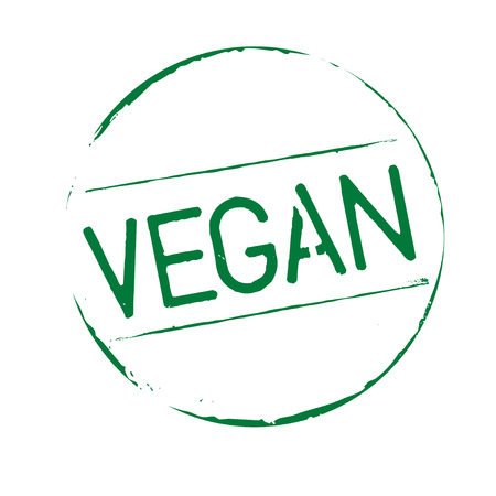Green grunge stamp VEGAN