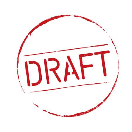 draft: Red grunge stamp DRAFT