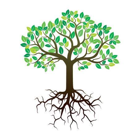 色のツリーのイラスト  イラスト・ベクター素材