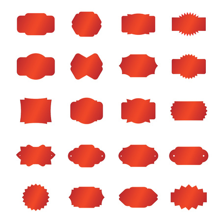 Set of red borders Vectores