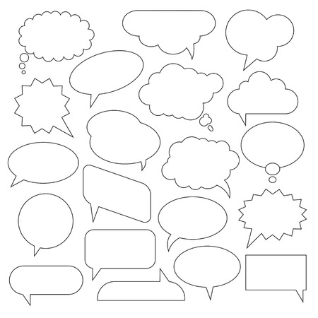 Set of Vector Speech Bubbles.