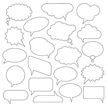 talc: Set of Vector Speech Bubbles.