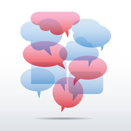 speech bubble: Set of Color Vector Speech Bubbles.