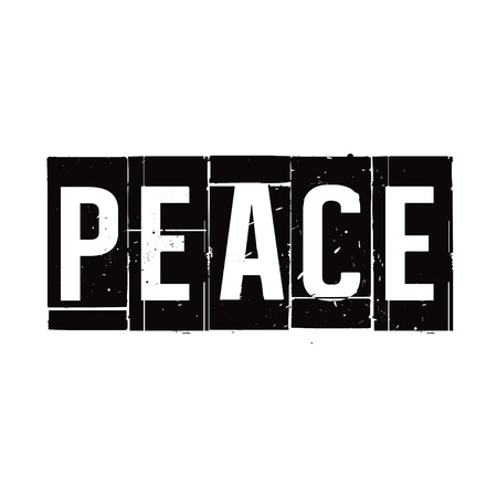 peace stamp: Black stamp and text Peace. Vector Illustration.