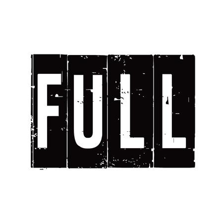 linkedin: Black stamp and text FULL. Vector Illustration.