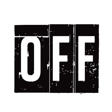 Black stamp and text to OFF. Vector Illustration.