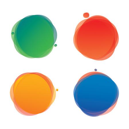 Fondos de vectores de color. Pancartas y elementos gráficos