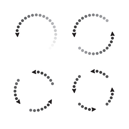 turning point: Grey arrows. Symbol of Progress. Illustration