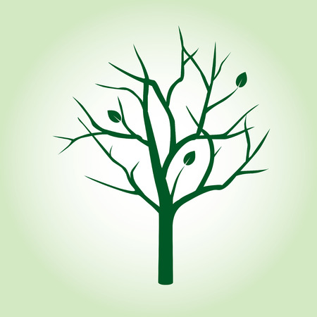 Shape of Green Tree. Vector Illustration. Illustration