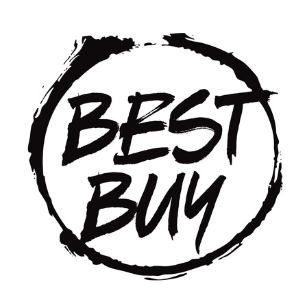 best buy: Black Vector Drawing Stamp text BEST BUY