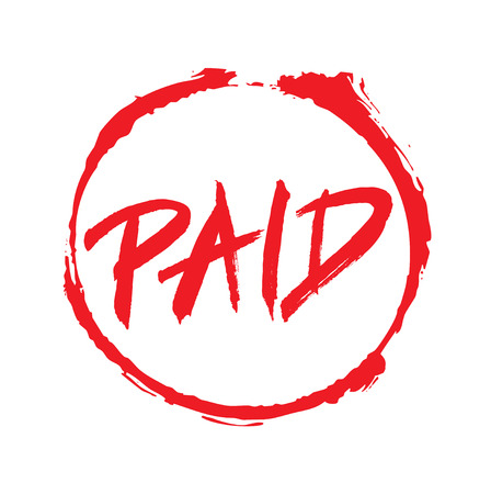 stamp of paid: Red Vector Drawing Stamp PAID text