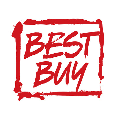 best buy: RED Vector Drawing Stamp BEST BUY Illustration