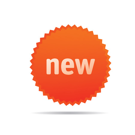 new icon: Orange Vector Icon NEW