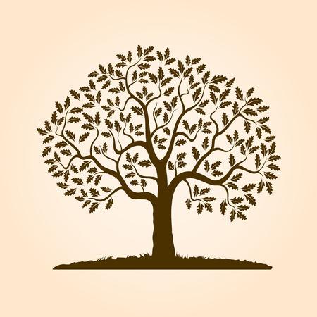 Brown kształt drzewa. Ilustracja wektora.