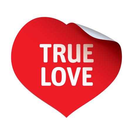 true: Red Heart Sticker and TRUE LOVE