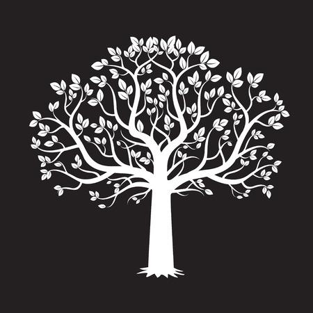 木の白と黒の背景。ベクトルの図。  イラスト・ベクター素材