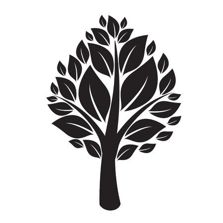 black: Black Tree. Illustration