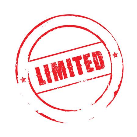limited: Red grunge stamp LIMITED Illustration