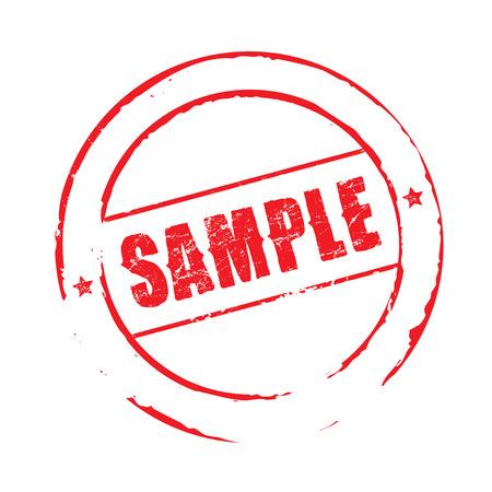 sample: Red grunge stamp SAMPLE