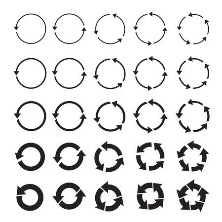 Set of black vector arrows. Signs and Icon. Ilustração