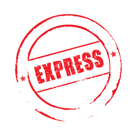 express: Red grunge stamp EXPRESS Illustration
