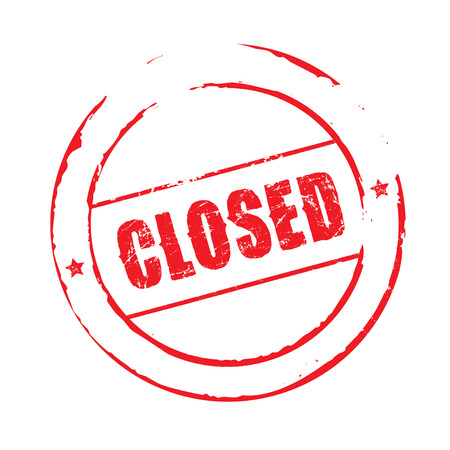 is closed: Red grunge stamp CLOSED Illustration