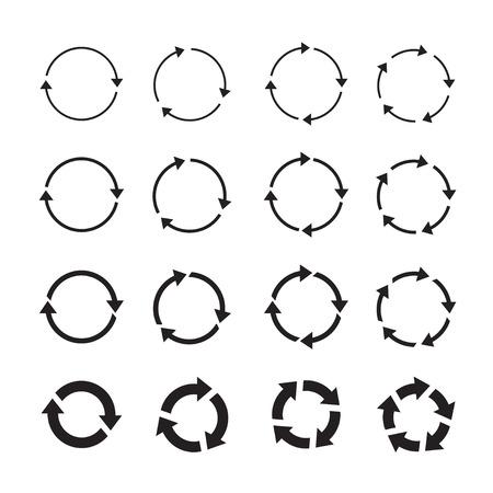 turning point: Set of black arrows. Vector Illustration. Illustration