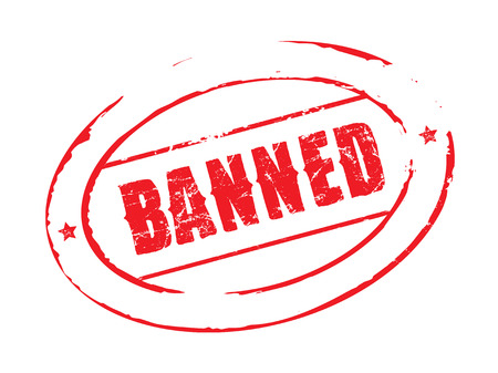 banned: Red vector stamp BANNED