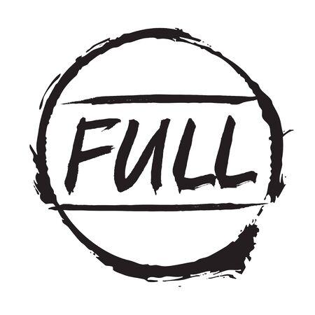 Black stamp FULL. Vector Illustration